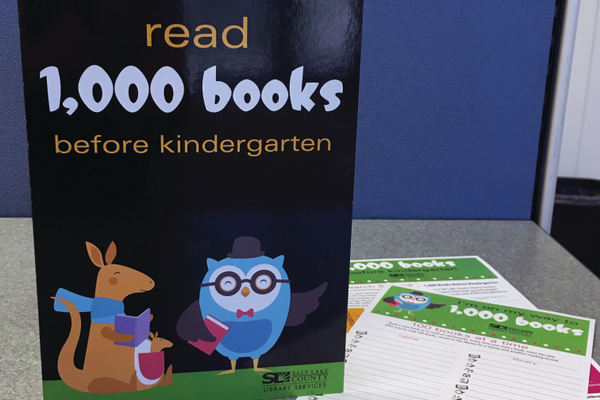South Jordan Library has given away more than 700 copies of Salt Lake County Library Service's 1,000 books before kindergarten program. –Tori La Rue