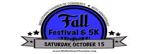 Midlothian Chamber of Commerce Fall Festival  5K - start Oct 15 2016 0800AM