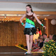 Emma S. models her duct tape fashion from during the annual Back-to-School Fashion Preview Aug. 17, 2016 at the Maple Grove Community Center. (Photo by Wendy Erlien)