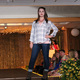 Teresa W. models clothes from Apricot Lane during the annual Back-to-School Fashion Preview Aug. 17, 2016 at the Maple Grove Community Center. (Photo by Wendy Erlien)