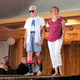 Vicki G. and Don G. model clothes from Express during the annual Maple Grove Fashion Flair August 18, 2016 at the Maple Grove Community Center. (Photo by Doug Erlien)