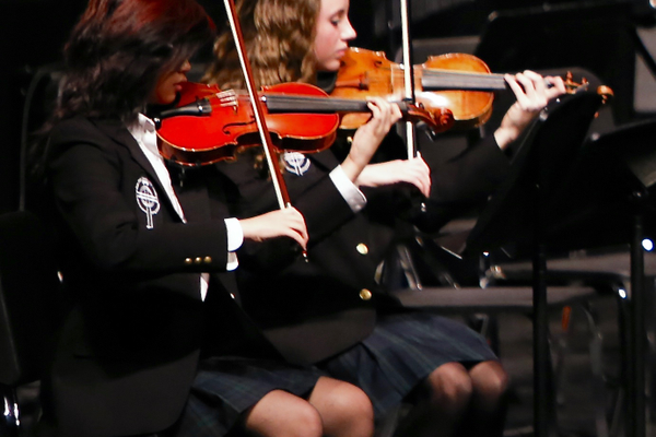 Juan Diego Catholic High School's orchestra will be included in one of the four disciplines — music, art, dance and theater — that will be part of the school's newly developed Academy of Fine Arts. — Jed Blodgett