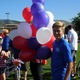 Ethan Scott, a member of the youth council, gets ready to hand out balloons. —Caroline Sagae