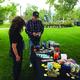 Aaron Bronson shows his preparedness items for sale. —Mylinda LeGrande