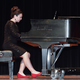 "An accomplished pianist, Megan Okumura played ""Argentina"" in the talent competition, which she won, in the Miss Teen of Utah pageant. — Sharon Okumura"
