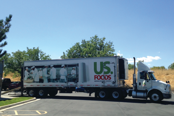 US Foods makes a delivery to local restaurant Virg's in Taylorsville —Mylinda LeGrande