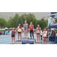 Whitney Rich stands on the podium last spring for track and field. —Alisha Paxton