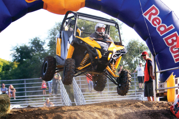 A fan favorite at the West Jordan endurocross is the UTV or side-by-side class. — Scott Anderson