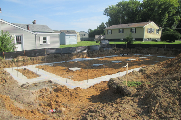 Footers poured for the home being built at the Springlake site.