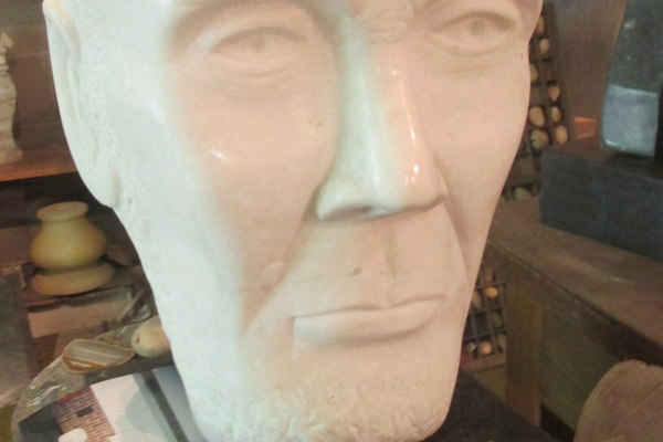 A bust of Abraham Lincoln was Bailey's first important sculpture, and took him two years to complete.