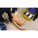 A one-arm intubation dummy didn't get used by the Sandy City Council in the demonstration of a firefighter/EMT service call held in the men's room near the police records department on Aug. 23, 2016. (My City Journals/Chris Larson)