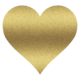 Thumb gold heart clipart 11