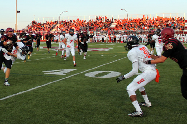 Maple Grove defeated Osseo 23-13 in the season opener. (Photo By: Doug Erlien)