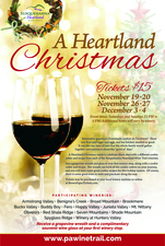 2016 Annual Heartland Christmas Wine Trail - start Nov 19 2016 1200PM