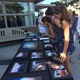 Photos from 9/11 on display at the city's memorial ceremony