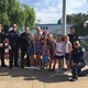 Police and paramedics join students at the Robinson Elementary ceremony