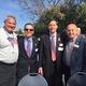 Robinson Principal John Jackson, Councilman David Lesser, Councilman Wayne Powell, Mayor Tony D'Errico