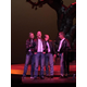 "On stage during the Cabaret Karaoke act, Acting Studio fathers perform ""Summer Nights"" from Grease after audience members bid to hear them sing. Pictured here as the T-Birds L - R: Peter Shukis, Darin Sloan, Cliff Cox, and Don Cheek."