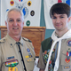 Scoutmaster Gary Gonthier and Eagle Scout Connor Gonthier