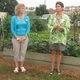 From left Kimberly Hiser and Betsy Ballard started the Patton Garden Project At right is Phoebe Kitson of the Chester County Food Bank
