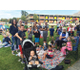 Families enjoy having lunch together during Family Week. (Sarah Madsen/Howard Driggs Elementary)