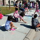 Basswood Elementary students participated in Kindness in Chalk Oct. 3, 2016 as part of National Bullying Prevention Awareness Month. (Photo by Wendy Erlien)