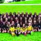 """All 45 of the Murray Spartan's girls soccer players pose for a photo at the beginning of the season. """"In my experience, Murray soccer has always been a close-knit family,"""" team captain Katie Valdez said. """"We are all very supportive of each other and work really well together."""" (Steve Christensen/Murray resident)"""