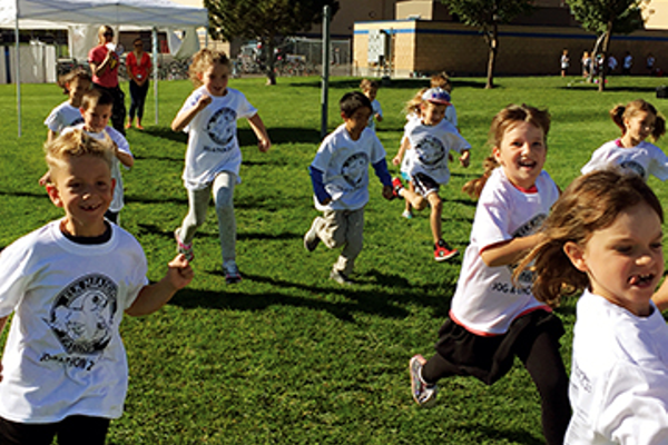 On your mark, get set, go! On Sept. 16, Elk Meadows students participate in the school's third annual jog-a-thon to help raise funds for PTA activities. (Julie Slama/My City Journals)
