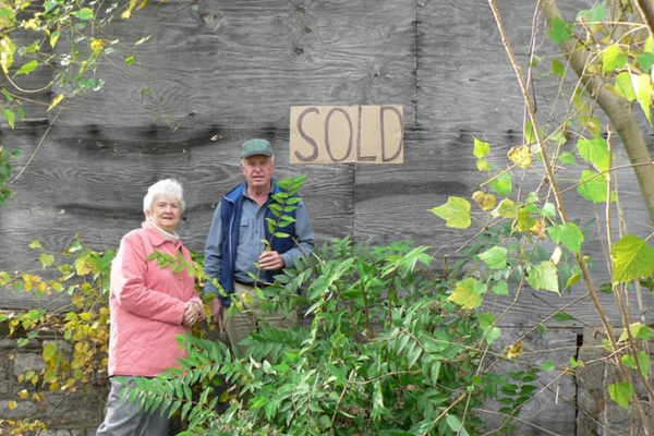 Pete and Joanne Stack, after the purchase of the property.