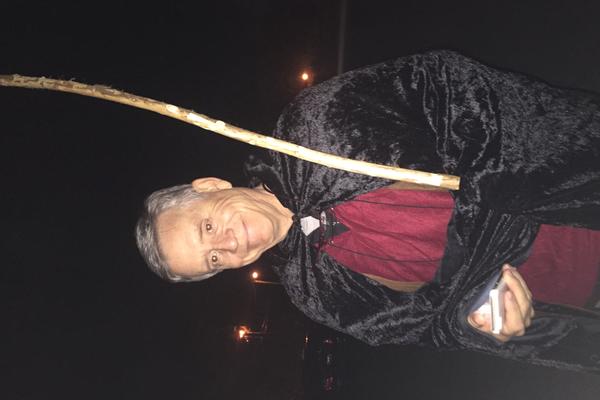 Councilman Jim Brass dresses up for the Haunted Woods in October 2015. (Sheri Van Bibber/Murray Exchange Club)