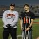 Osseo Senior High Orioles Football Senior Night Oct. 21, 2016. (photo by Wendy Erlien)