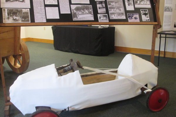A soap box race car from the events held every year in downtown Oxford.
