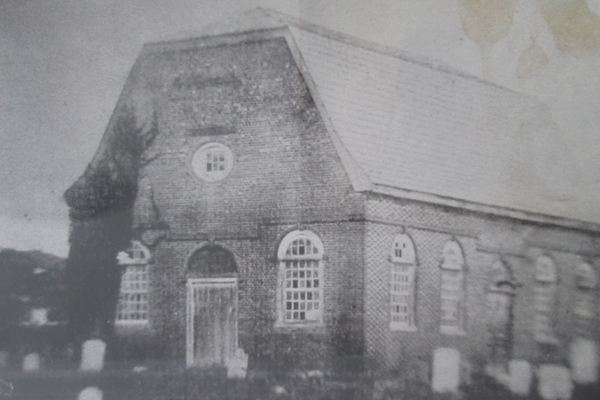 The earliest known photo of the church.