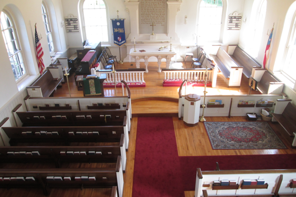 The interior of the church was redone in the 1900s.