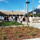 Cottonwood Heights welcomes attendees to the new city hall's ribbon cutting. (Cassie Goff/City Journals)