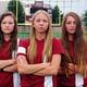 Jordan senior soccer players Brooke Brunson, Alli Pickering and Sierra Paul. (Marli Martin/Jordan Soccer)