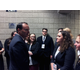 Sen. Mike Lee, R-Utah, speaks with Herriman High School students after his keynote address at the Utah Solutions Summit on Sept. 1 at the Vivint Smart Home Arena. (Julianna Wing/Herriman High School)