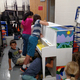 Students work from various positions to access their assigned space on the piano. (Deborah Hansen/Fox Hollow Elementary)
