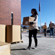 Krysten Olson spearheaded the project which saw the Utah League of Cities and Towns donate 300 homeless kits to The Road Home in Midvale. (Travis Barton/City Journals)