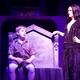 """Maggie Goertzen (Morticia) puts Thomas Middleton (Pugsley) to bed in """"The Addams Family"""" performed at the Midvale Main Street Theatre. (Dustin Bolt and Amy Bosworth/Midvale Main Street Theatre)"""