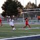 Hunter senior Gabrielle Sainsbury corrals the ball against Granger for the girls soccer team. (Genesis Kirkham/Hunter yearbook)