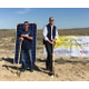 Groundbreaking at the solar plant site near Holden, Utah, on April 21, 2016.