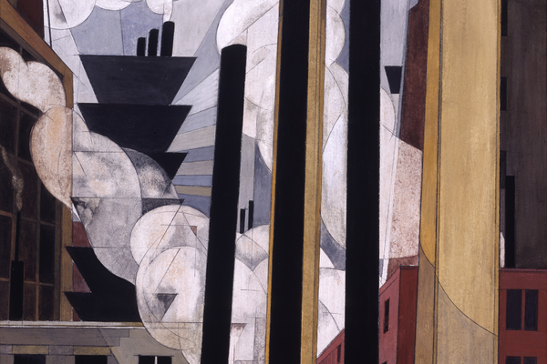 'End of the Parade, Coatesville, Pa.' (1920), by Charles Demuth.