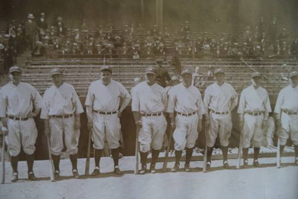 The 1927 New York Yankees' Murderer's Row, perhaps the greatest lineup ever assembled.