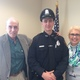 New Dracut Police Officer Connor Geoffroy poses with his proud parents Rick and Terri Geoffroy.
