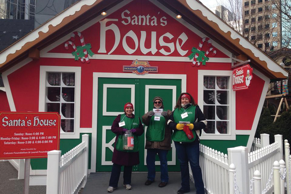 Santa's House at the food bank