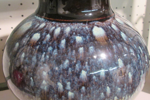 A glazed vase by Carole Fox.