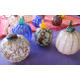Glass pumpkins by Kevin Lehman.