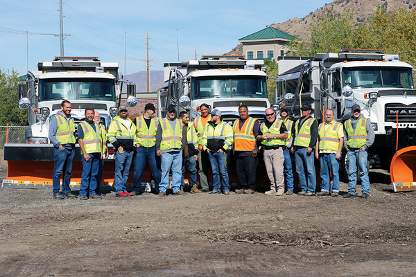 The public works team for Cottonwood Heights with new vests, new trucks and new faces. (Cassie Goff/City Journals)