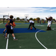 Utah Jazz forward Joel Bolomboy runs dribbling drills with Junior Jazz youth players at the grand re-opening of Bingham Junction Park on Oct. 27. The 5,600-square-foot court was painted in Jazz colors with six surrounding basketball hoops. (Travis Barton/City Journals)